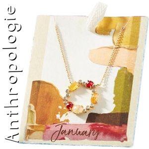 ANTHROPOLOGIE January Birthstone Infinity Necklace